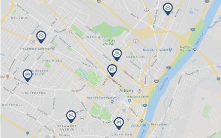 map of locations - click for more details
